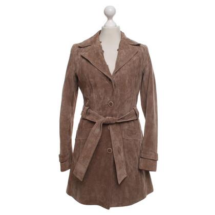 Oakwood Leather coat in beige