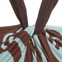 Valentino Neckholder top in brown / blue