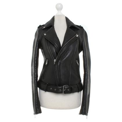 Maje Leather jacket in biker style