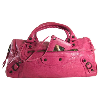 "Balenciaga ""Twiggy Bag"" in Fuchsia"