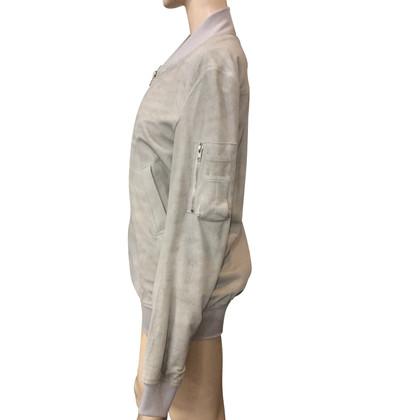 Rick Owens giacca di pelle scamosciata