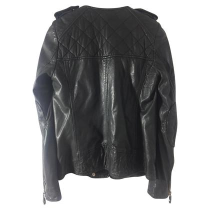 Isabel Marant Etoile Leren jas in zwart