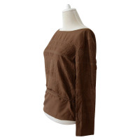 Jil Sander Wickelbluse in brown