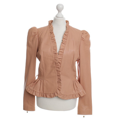 Manoush Leather jacket in apricot