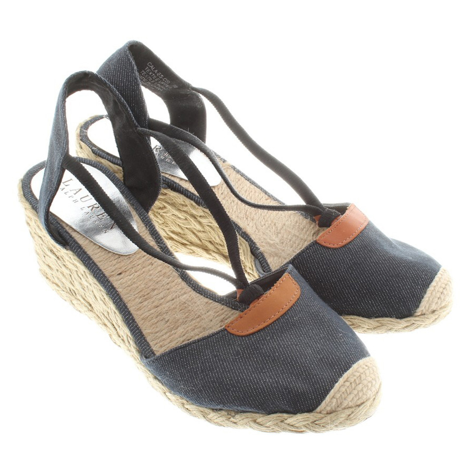 ralph lauren sandaletten mit keilabsatz second hand. Black Bedroom Furniture Sets. Home Design Ideas