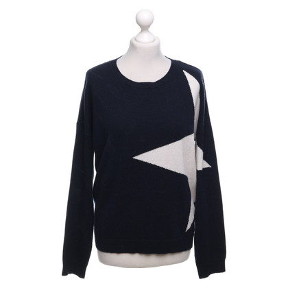 FTC Sweater in donkerblauw / wit