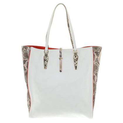 Roberto Cavalli Tote Bag in white
