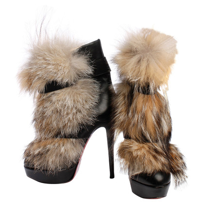 Christian Louboutin Ankle boots with fur