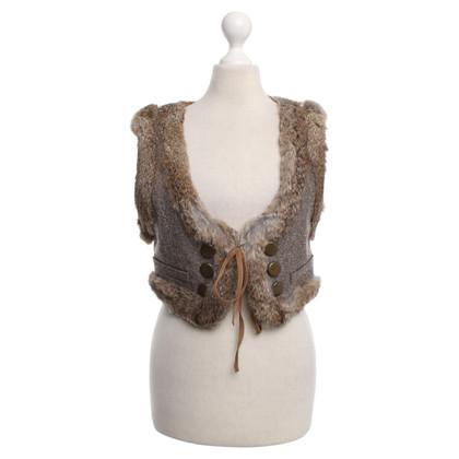 Other Designer Bleu Blanc - fur vest