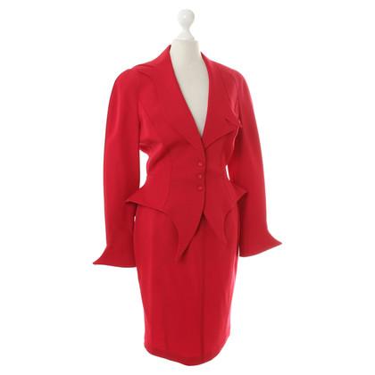 Mugler Kostuum rood