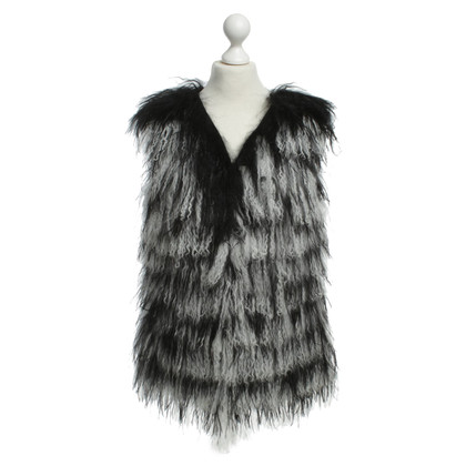Marc Cain Fur vest with springs