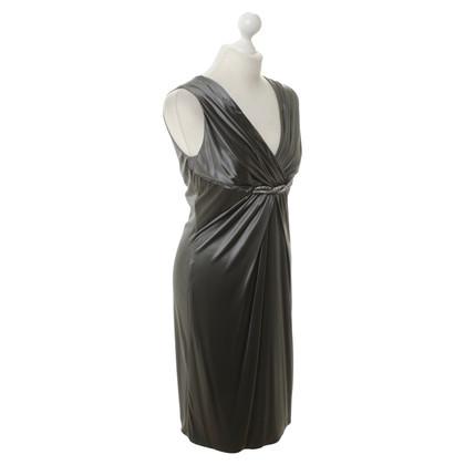 Versace Seidenkleid in Grau