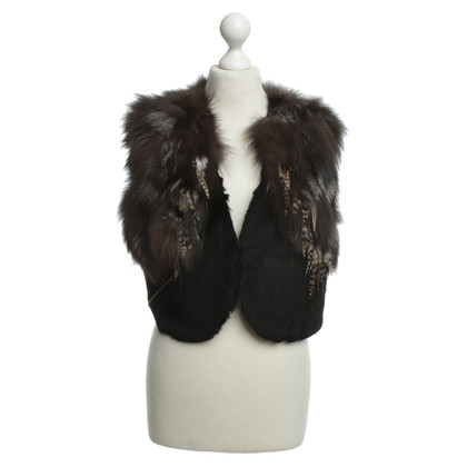 Carolina Herrera Fur vest with springs