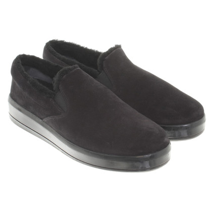 Prada Lambskin sneakers in black