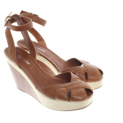 Jil Sander Wedges in Braun