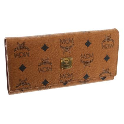 MCM Wallet in Cognac Brown