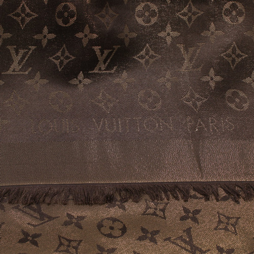 3c85f1de16ce8 Louis Vuitton Schal Tuch in Braun - Second Hand Louis Vuitton Schal ...