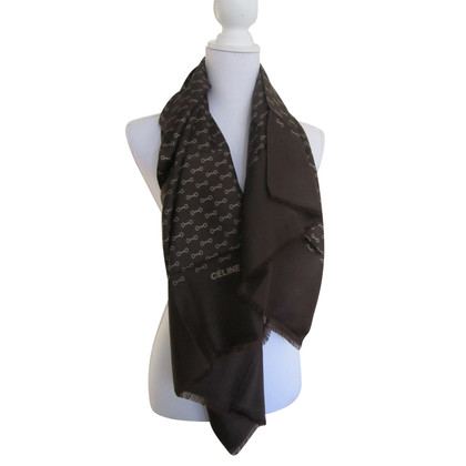 Céline Brown silk scarf