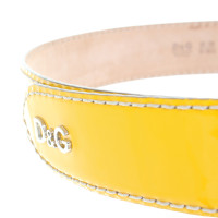 D&G Patent leather belt in yellow