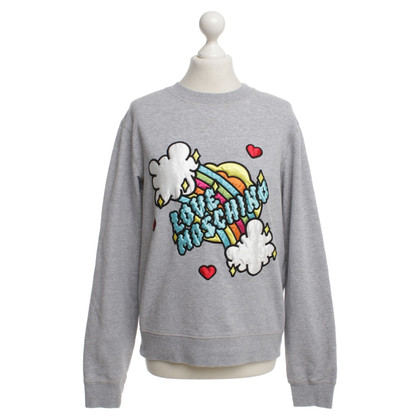 Moschino Love Sweatshirt in Grau mit Motiv