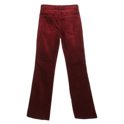 Current Elliott pantalon en velours côtelé en rouge