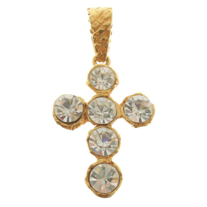 Christian Lacroix Cross pendant in Bicolor