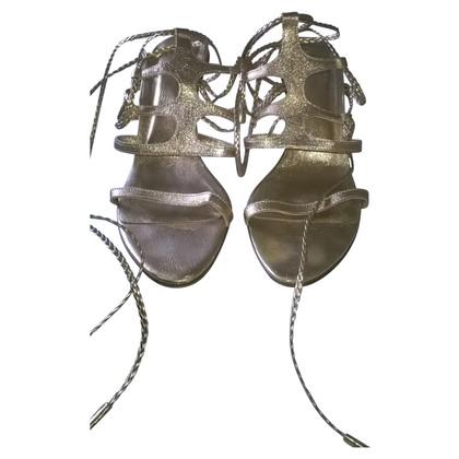 Sergio Rossi Gold colored sandals