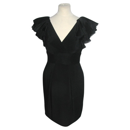 Marchesa Black silk dress