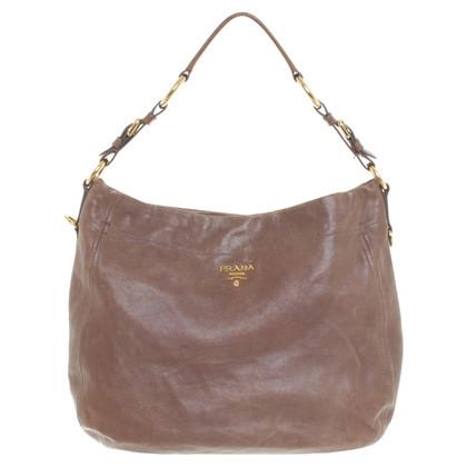 Prada Lederhandtasche in Braun