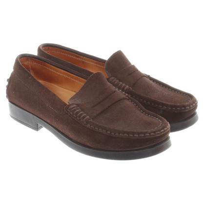 Tod's Suede loafers in bruin