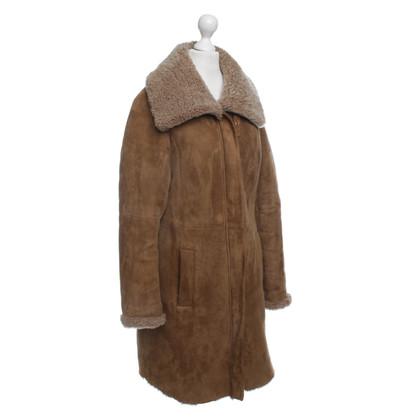 Windsor Pelle di pecora cappotto in marrone