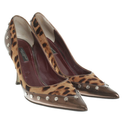 Dolce & Gabbana pumps in fur optics