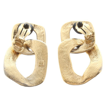 Yves Saint Laurent Gold clip earrings