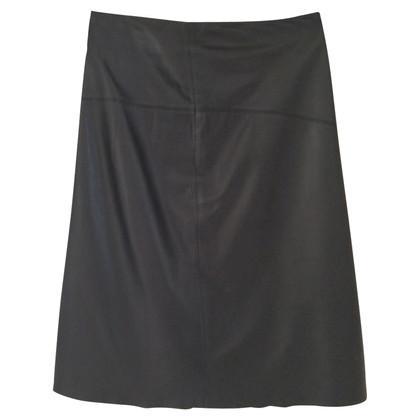 Donna Karan Leather skirt in black