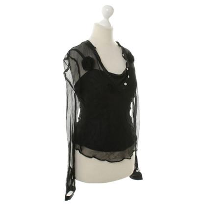 Diane von Furstenberg Henleyshirt in zwart