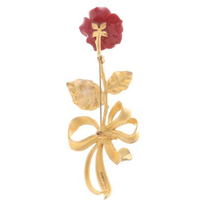 Dolce & Gabbana Brosche in Rosenform