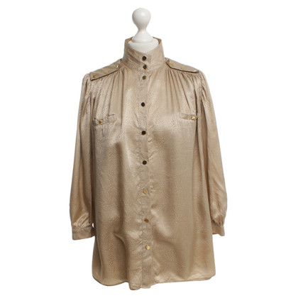 Reiss Beige silk blouse