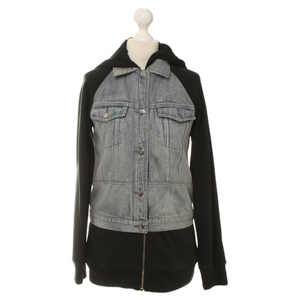 Alexander Wang Hooded jacket with denim trim