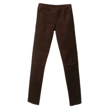 Tory Burch Leather pants in Brown