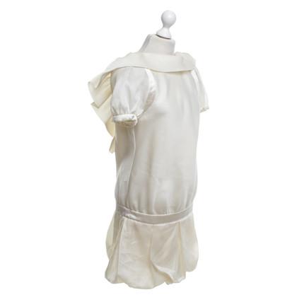 Malo Silk dress in cream