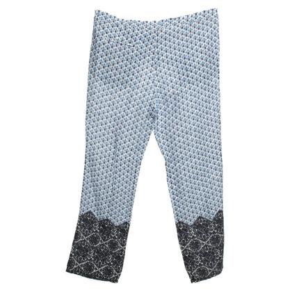 Tory Burch pantaloni di lino con pattern