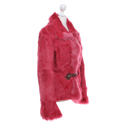 Thes & Thes Pelzjacke in Pink