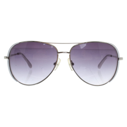 Michael Kors Aviator sunglasses in silver / white