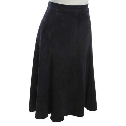 Drome Leather skirt in dark blue