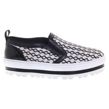 MSGM Slipper in zwart / wit