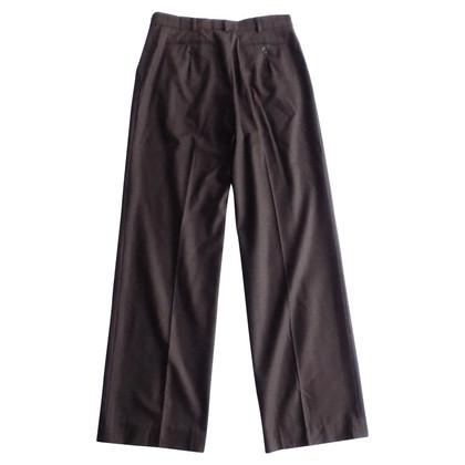 Max Mara Pantaloni a gamba larga in marrone