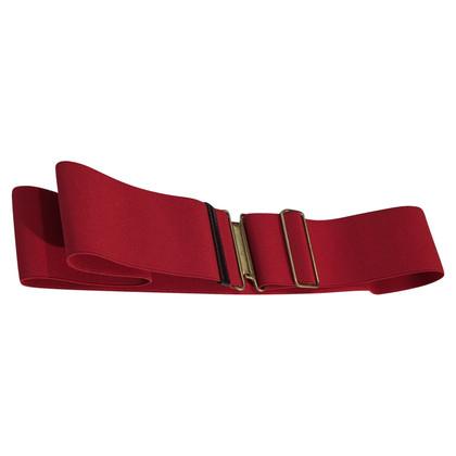 Miu Miu Red belt with elastic band