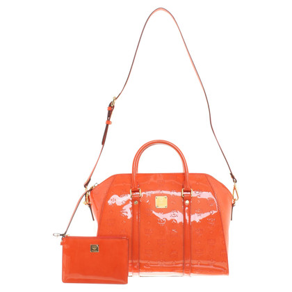 MCM Patent leather handbag in orange