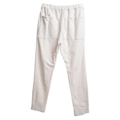 Brunello Cucinelli pantaloni della tuta crema