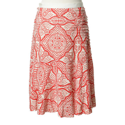 Oscar de la Renta patterned silk skirt